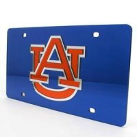 Auburn Inlaid Acrylic License Plate - Blue
