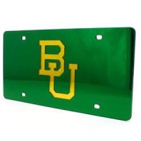 Baylor Inlaid Acrylic License Plate - Green