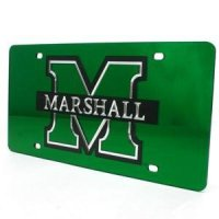 Marshall Inlaid Acrylic License Plate - Green