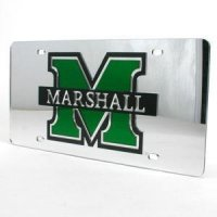 Marshall Inlaid Acrylic License Plate - Silver
