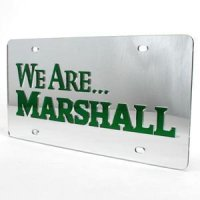 Marshall Inlaid Acrylic License Plate -