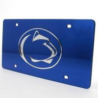 Penn State Inlaid Acrylic License Plate - Blue