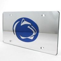 Penn State Inlaid Acrylic License Plate - Silver