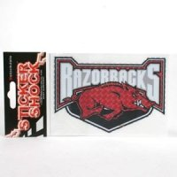 "Arkansas High Performance Decal - ""razorbacks"" Over Hog"