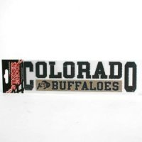 "Colorado Buffaloes High Performance Decal - ""Colorado Buffaloes"" Over "" Buffaloes"""