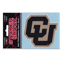 "Colorado Buffaloes High Performance Decal - ""cu"""