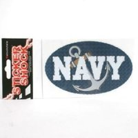 U.s. Navy High Performance Decal - Oval With Anchor