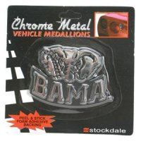 Alabama Metal Chromed Auto Emblem