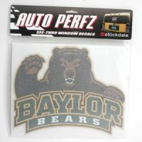 Baylor Perforated Vinyl Window Decal