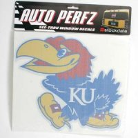 Kansas Jayhawks Perforated Vinyl Window Decal