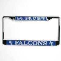 TeamStores.com - Air Force Falcons Metal License Plate Frame W/domed Insert
