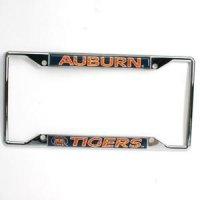 Auburn Metal License Plate Frame W/domed Insert