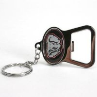 Alabama Metal Key Chain And Bottle Opener W/domed Insert