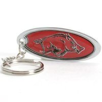 Arkansas Metal Key Chain W/domed Insert