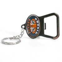 Auburn Metal Key Chain And Bottle Opener W/domed Insert