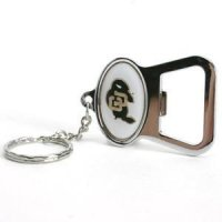 Colorado Buffaloes Metal Key Chain And Bottle Opener W/domed Insert