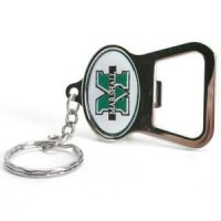 "Marshall Metal Key Chain And Bottle Opener W/domed Insert - ""m"""