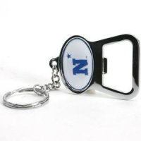 U.s. Navy Metal Key Chain And Bottle Opener W/domed Insert