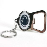 Penn State Metal Key Chain And Bottle Opener W/domed Insert