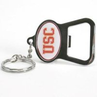 Usc Metal Key Chain And Bottle Opener W/domed Insert