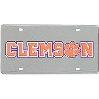 Clemson License Plate - Mirrored Acrylic