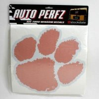 Clemson Perforated Window Decal - Jumbo