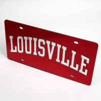Louisville License Plate - Red