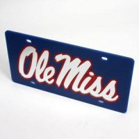 Ole Miss License Plate - Blue
