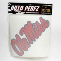 Ole Miss Perforated Vinyl Window Decal