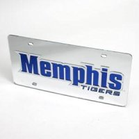 Memphis Tigers License Plate - Mirrored