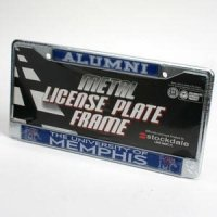 Memphis Tigers License Plate Frame - Chrome