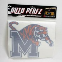 Memphis Tigers Perforated Vinyl Window Decal