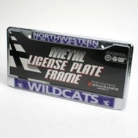 "Northwestern ""wildcats"" License Frame - Chrome"