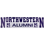 "Northwestern ""alumni"" Decal"