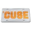 Syracuse 'cuse License Plate - Silver / Mirrored