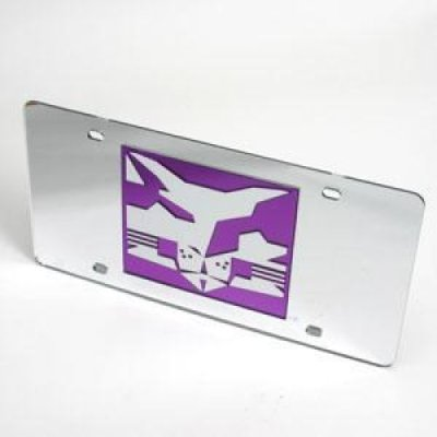 NYU Bobcats Logo License Plate - Silver / Mirrored