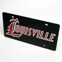 Louisville License Plate - Black