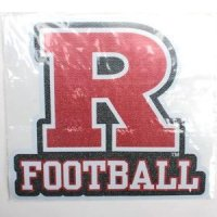"Rutgers High Quality Decal - Rutgers ""r"" Over Football"