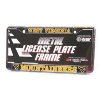 West Virginia Mountaineers Metal License Plate W/domed Insert