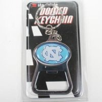 North Carolina Metal Key Chain And Bottle Opener W/domed Insert