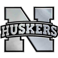 Nebraska Chrome Auto Emblem