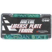 Michigan State Metal Inlaid Acrylic License Plate Frame