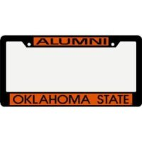 Oklahoma State Metal Alumni Inlaid Acrylic License Plate Frame