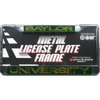 Baylor Metal Inlaid Acrylic License Plate Frame