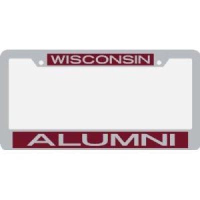 Wisconsin Metal Alumni Inlaid Acrylic License Plate Frame