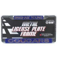 Byu Metal Inlaid Acrylic License Plate Frame