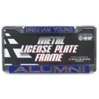 Byu Metal Alumni Inlaid Acrylic License Plate Frame