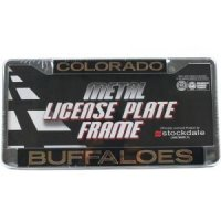Colorado Buffaloes Metal Inlaid Acrylic License Plate Frame