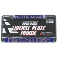 Notre Dame Metal Inlaid Acrylic License Plate Frame
