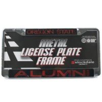 Oregon State Metal Alumni Inlaid Acrylic License Plate Frame